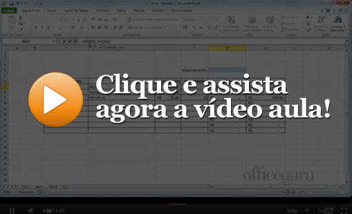 Vídeo aula: Formatar o Layout do Gráfico Parte A
