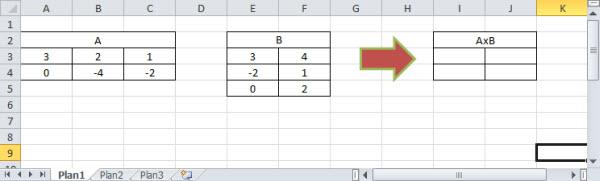multiplicando matrizes no excel