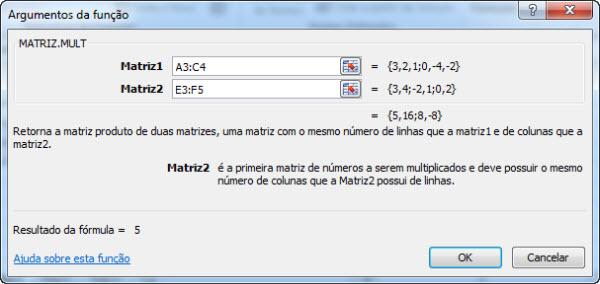 multiplicando matrizes excel 2010