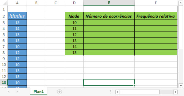 frequencia no excel