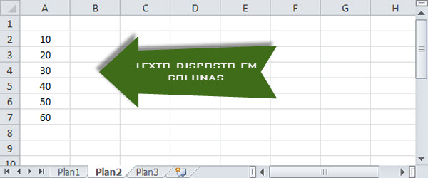 Planilha do tutorial no Excel