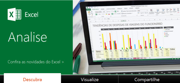 capa do site do excel