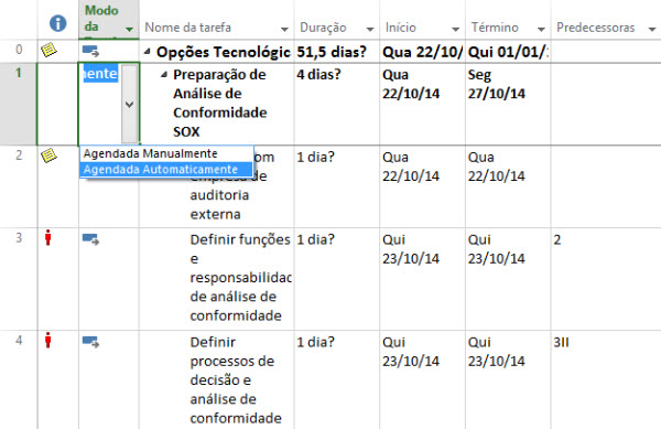 agendamento com base no calendario