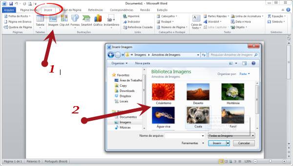 guia inserir imagens do word 2010