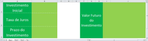 planilha no excel para calculo do valor futuro