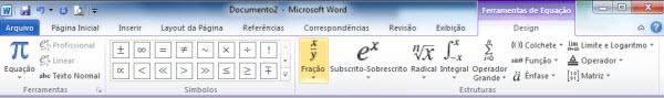 equacoes no word 2010