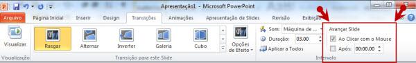 transicao de slides powerpoint